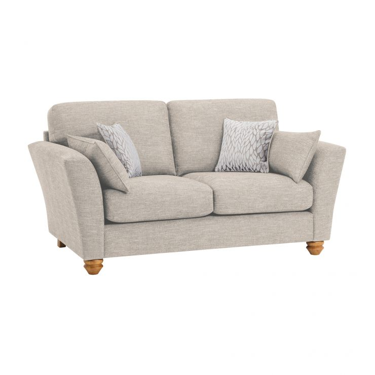 Witney 2 Seater Sofa in Linen with Beige Scatters