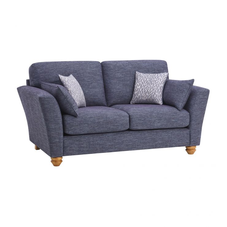Witney 2 Seater Sofa in Storm with Blue Scatters