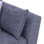 Witney 2 Seater Sofa in Storm with Blue Scatters - Thumbnail 8