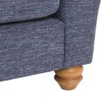 Witney 2 Seater Sofa in Storm with Blue Scatters - Thumbnail 9