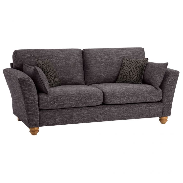 Witney 3 Seater Sofa in Charcoal with Charcoal Scatters