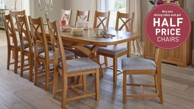 4ff098483798 10 Seater Dining Tables   Large Dining Tables   Oak Furnitureland