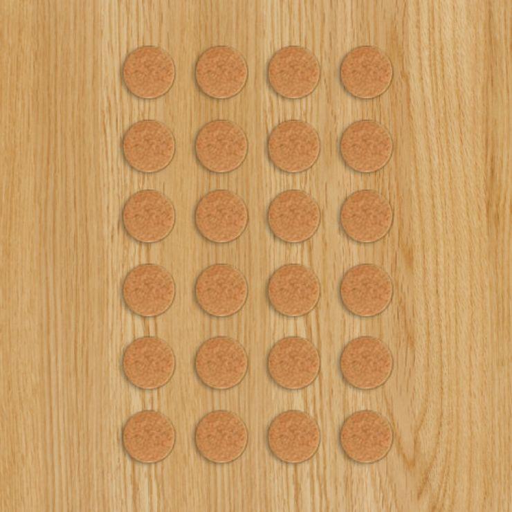 24 Protective Felt Floor Pads 25mm - Image 1