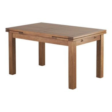 "4ft 7"" x 3ft Rustic Solid Oak Extending Dining Table"