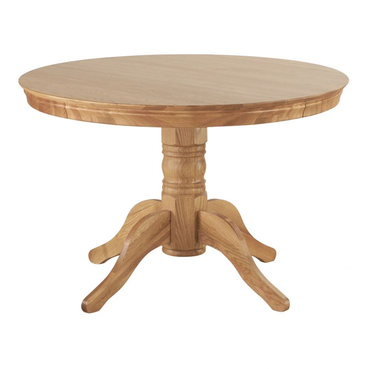 Pedestal Natural Solid Oak 4ft Round Table - Image 7