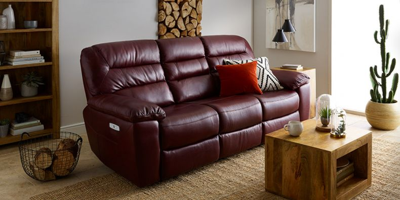 Leather Reclining Sofas