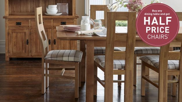 8702c92771 Oak Dining Table and Chairs | Dining Table Sets | Oak Furnitureland