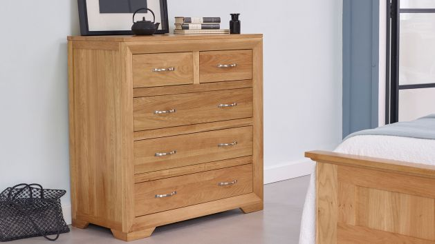 Oak Chest Of Drawers Small Large Drawers Oak Furniture Land