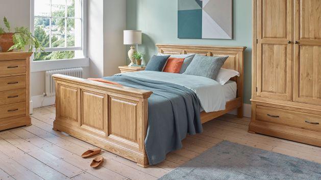 Oak Double Beds Small Double Beds Oak Furnitureland