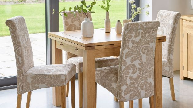 Fabric Dining Chairs Upholstered Chairs Oak Furnitureland