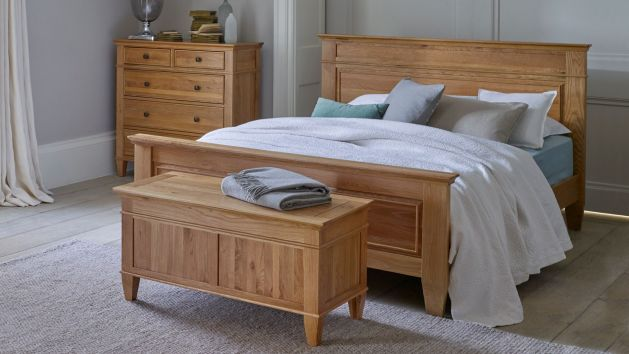 Oak King Size Beds Wooden King Bed Frames Oak Furniture Land