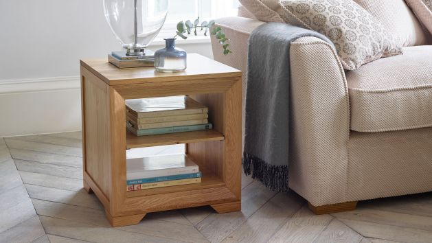 Oak lamp tables solid wood lamp tables oak furniture land lamp tables aloadofball Choice Image