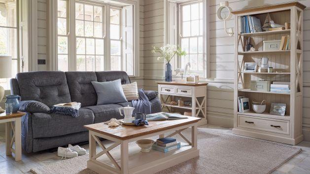 Seychelles Range Painted Brushed Oak Top Oak Furniture Land