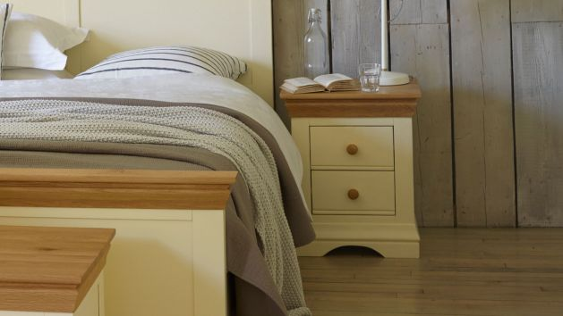 Mango and Painted Bedside Tables