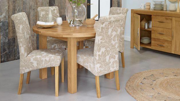 Round Dining Tables Pedestal Dining Tables Oak Furnitureland