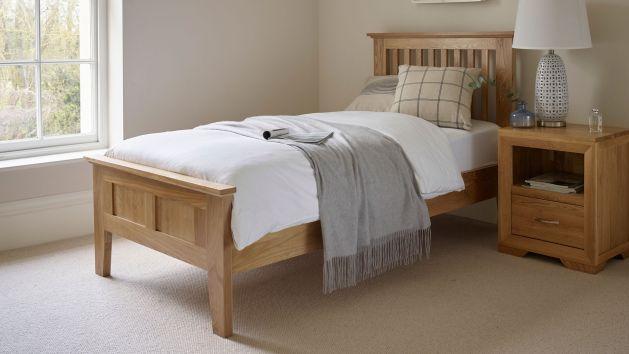 Oak Single Beds Solid Wood Single Bed Frames Oak Furnitureland