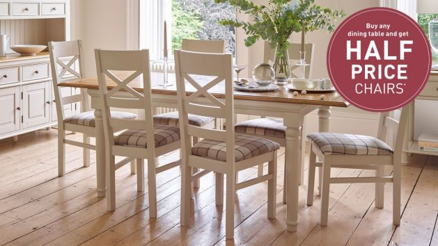 Painted Dining Table and Chairs