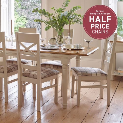 Mango and Painted Dining Chairs
