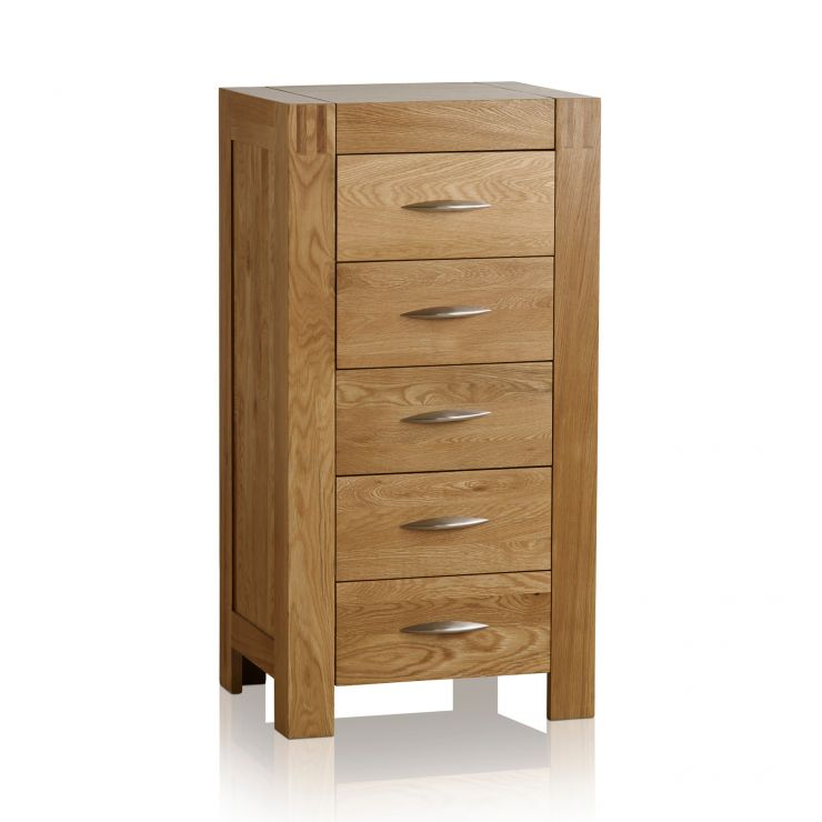 Alto Natural Solid Oak 5 Drawer Tallboy - Image 6