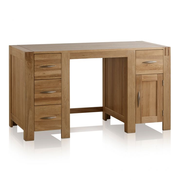 Alto Natural Solid Oak Computer Desk - Image 1