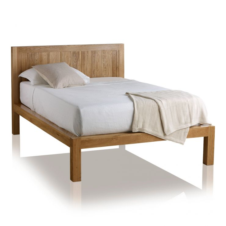 "Alto Natural Solid Oak 4ft 6"" Double Bed - Image 1"