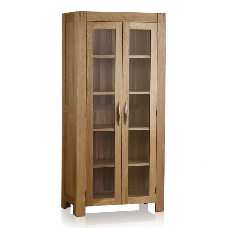 Alto Natural Solid Oak Glazed Display Cabinet