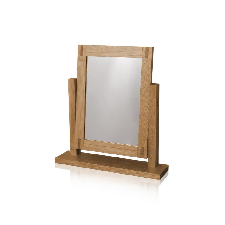Alto Natural Solid Oak Dressing Table Mirror - Image 3