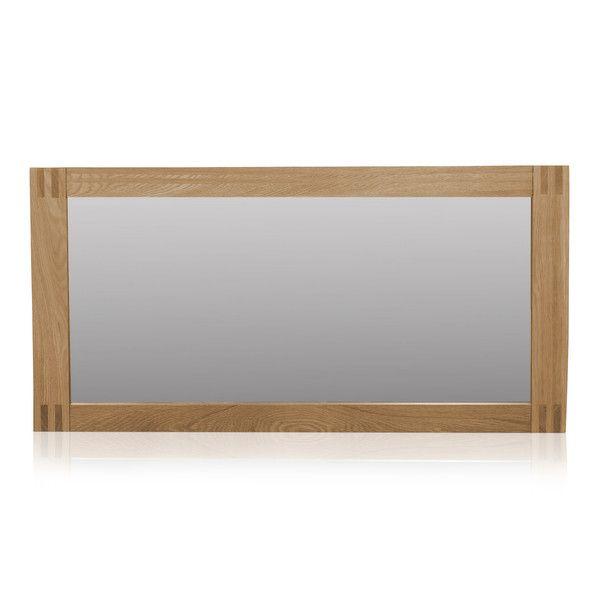 Alto Natural Solid Oak 1200 x 600 Wall Mirror