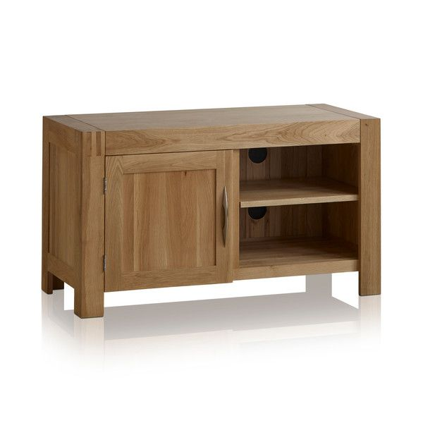 Alto Natural Solid Oak Small TV Cabinet