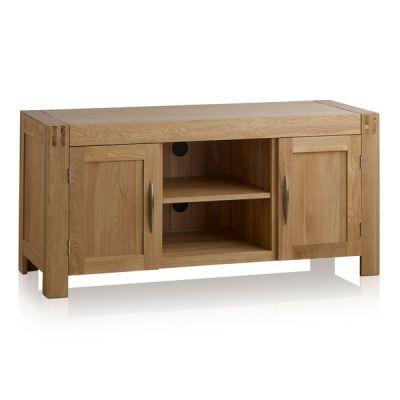 Alto Natural Solid Oak Large TV Cabinet