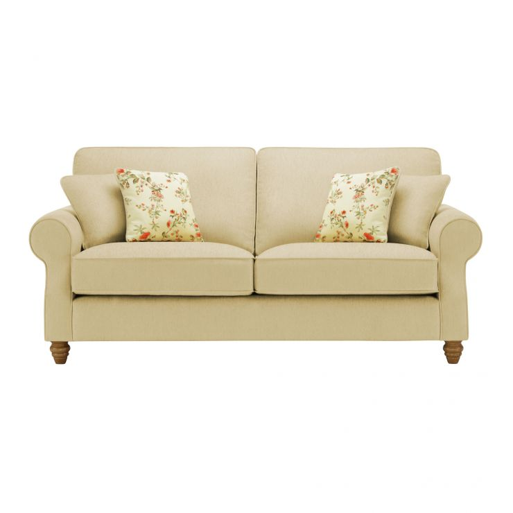 Amelia 3 Seater Sofa in Polla Meadow with Rippon Rose Scatters - Image 1