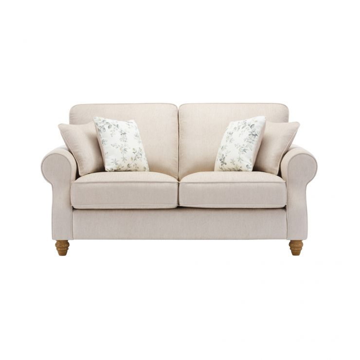 Amelia 2 Seater Sofa in Polla Oatmeal with Rippon Natural Scatters - Image 1