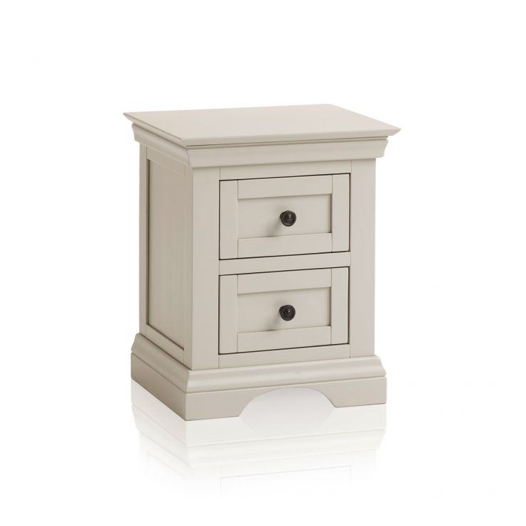 Arlette Grey 2 Drawer Bedside Table in Painted Hardwood  - Image 6