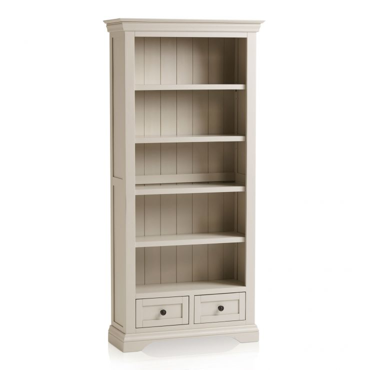 Arlette Grey Bookcase in Painted Hardwood - Image 6