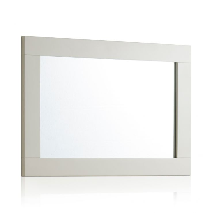 Arlette Grey Wall Mirror in Painted Hardwood - Image 1