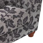 Ashdown 4 Seater Sofa in Hampton Charcoal - Thumbnail 9