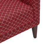 Ashdown Accent Chair in Hampton Ruby - Thumbnail 8