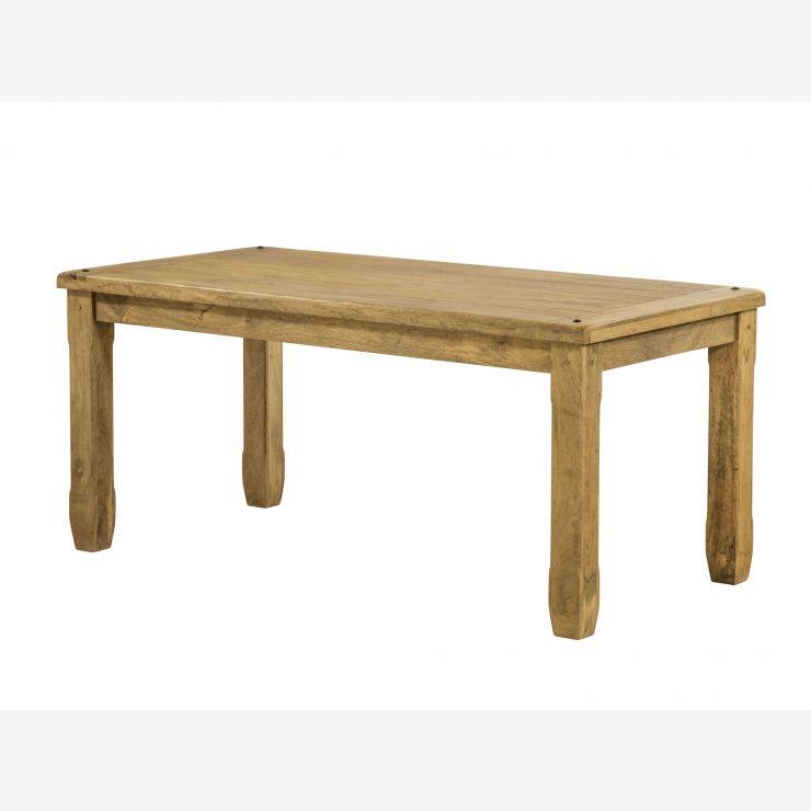 "Baku Light Natural Solid Mango 5ft 6"" x 2ft 9"" Dining Table - Image 4"