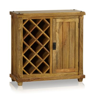 Baku Light Natural Solid Mango Wine Cabinet