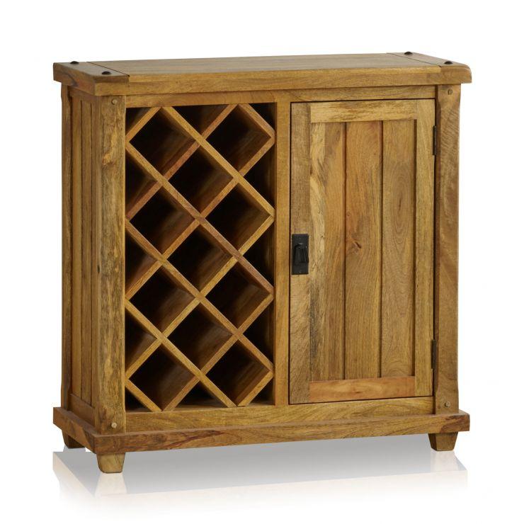Baku Light Natural Solid Mango Wine Cabinet - Image 4