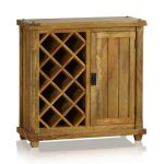 Baku Light Natural Solid Mango Wine Cabinet - Thumbnail 2