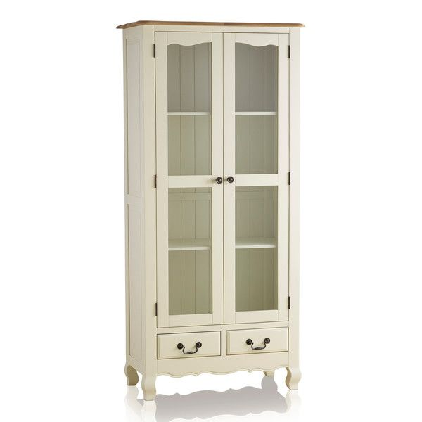 Bella Brushed Oak and Painted Display Cabinet