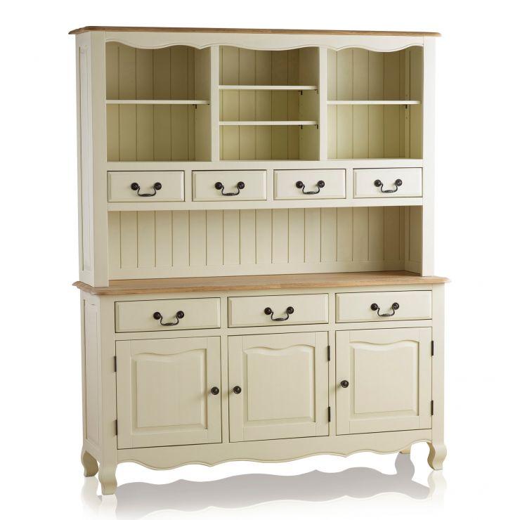 Bella Brushed Oak and Painted Large Dresser - Image 6