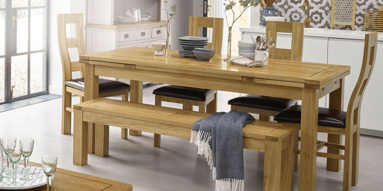 Strange Oak Benches Oak Stools Solid Wood Oak Furnitureland Machost Co Dining Chair Design Ideas Machostcouk