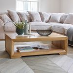 Bevel Natural Solid Oak Coffee Table - Thumbnail 3