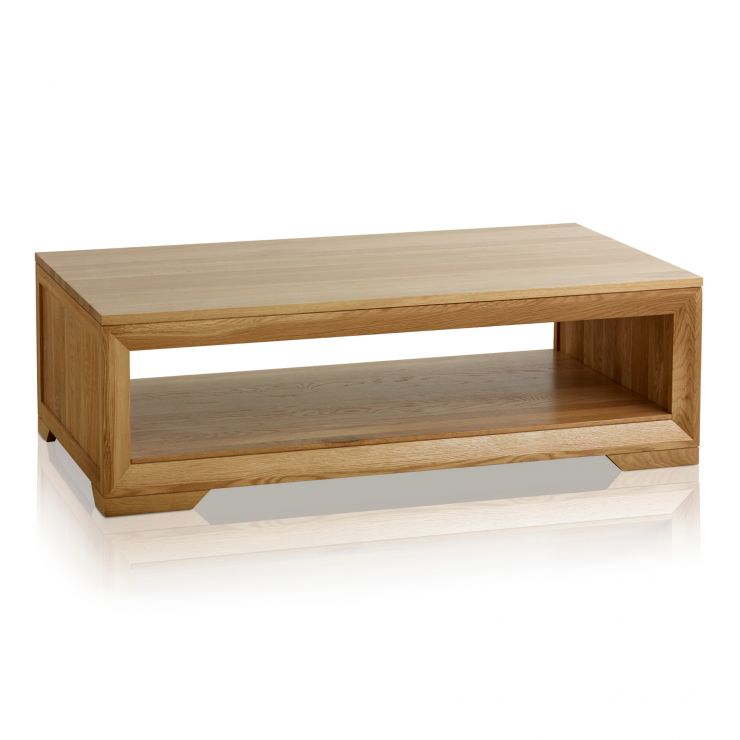 Bevel Natural Solid Oak Coffee Table - Image 6