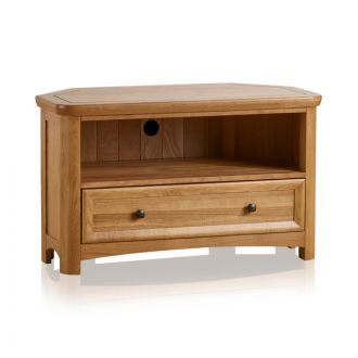 Wiltshire Natural Solid Oak Corner TV Unit