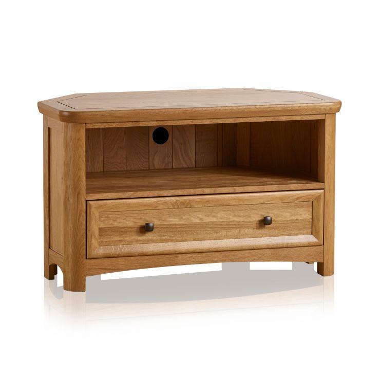 Wiltshire Natural Solid Oak Corner TV Unit - Image 5