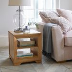 Bevel Natural Solid Oak Lamp Table - Thumbnail 6