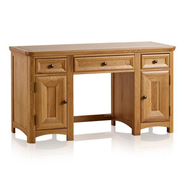 Wiltshire Natural Solid Oak Computer Desk